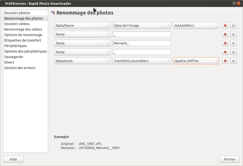 Préférences: Rapid Photo Downloader_004